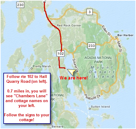 Directions to Chambers Oceanfront Cottages